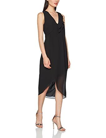 Sisley Damen Partykleid Midi with Asymmetric Hem Dress: Amazon.de ...