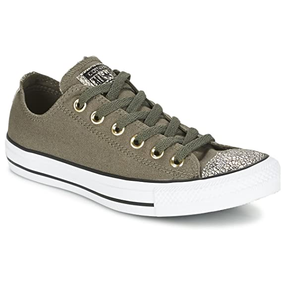 8881dd6222a0 Converse Womens All Star Oil Slick Toe Cap OX Low top Trainers ...