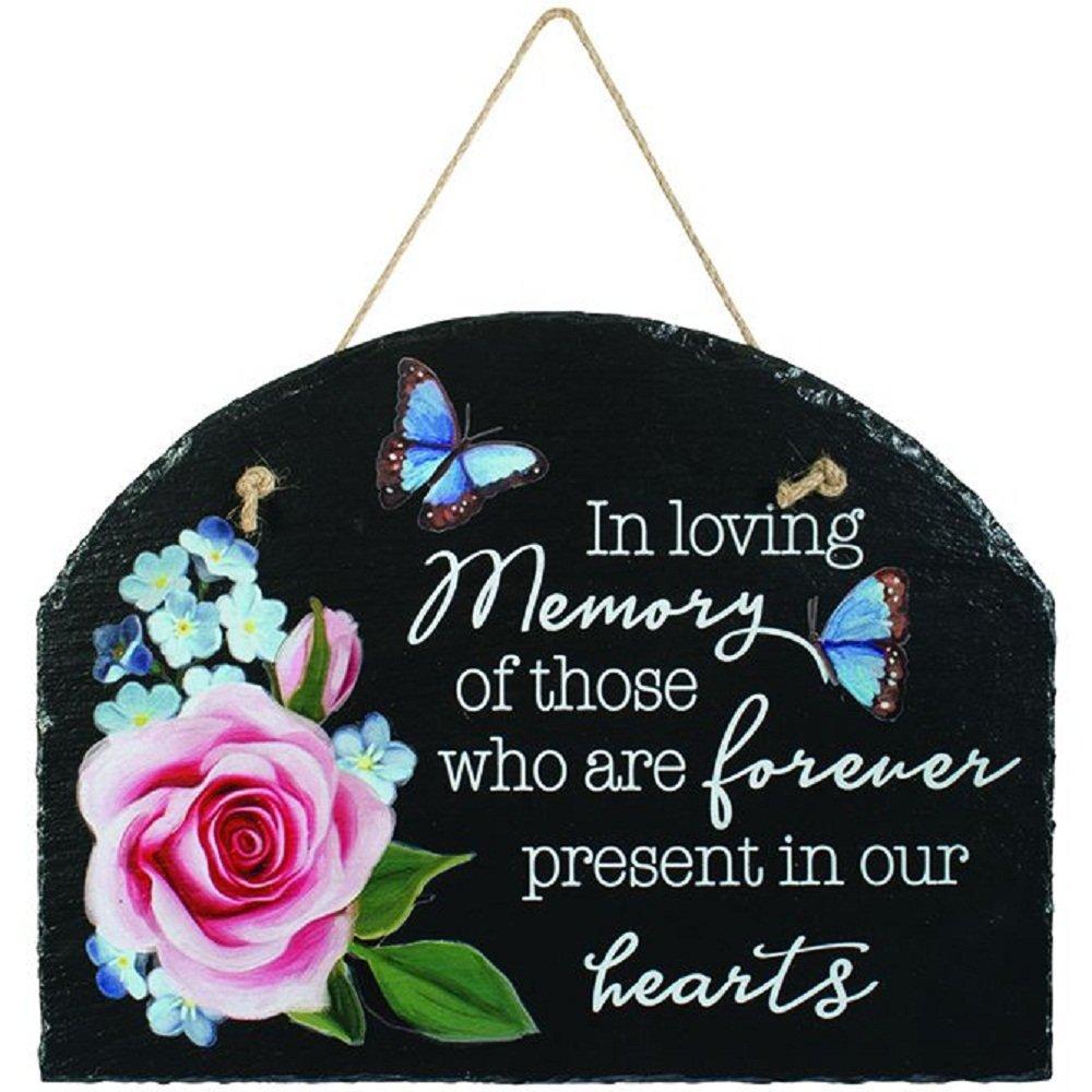 Carson In Loving Memory Slate Garden Plaque Home Decor