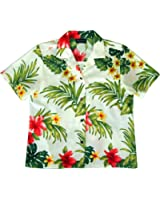 RJC Women's Hibiscus Tropics Hawaiian Camp Shirt