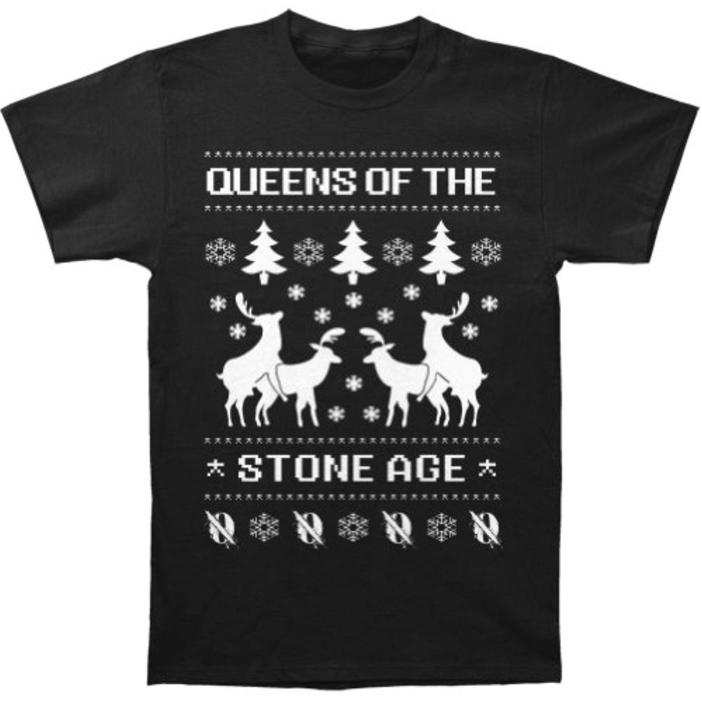 OLDYILI Queens Of The Stone Age Men39,s Reindeer Slim Fit T-shirt Black
