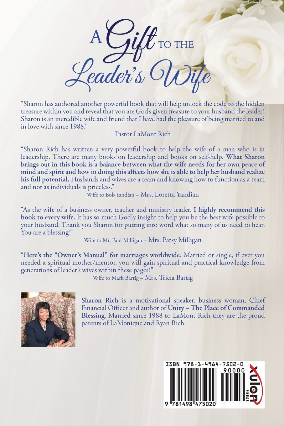 A Gift to the Leader's Wife: Sharon D Collins Rich: 9781498475020:  Amazon.com: Books