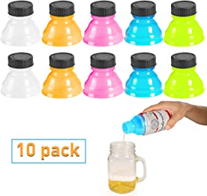 Soda Can Lids, WATSABRO 10 Pcs BPA-Free Can Covers for Soda Suitable for Carbonated Drinks, Beer, Energy Drinks, Other Canned Beverages. Reusable Pop Can Lid for Picnic/Beach/Family Gathering/Party