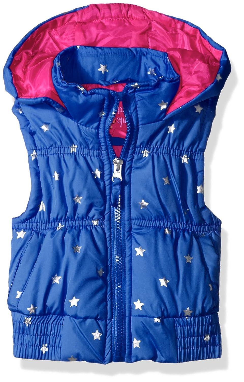 Pink Platinum Girls' Foil Star Puffer Vest 73338
