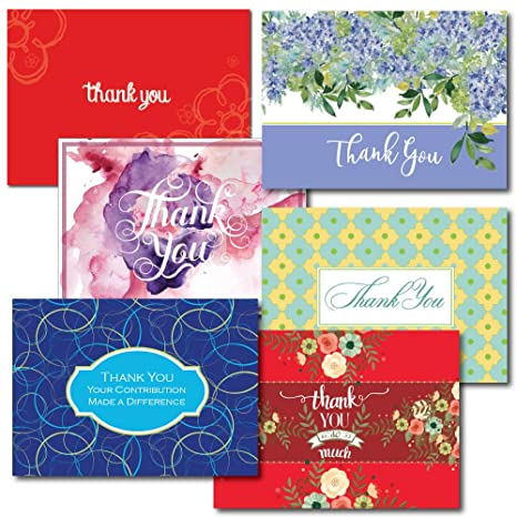 Amazon thank you greeting card assortment a 30 card box set thank you greeting card assortment a 30 card box set of 5 each of m4hsunfo