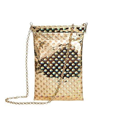918ba797b94d Zarapack Women's Hologram Chip Bag Pu Leather Clutch Handbag Shoulder Bag