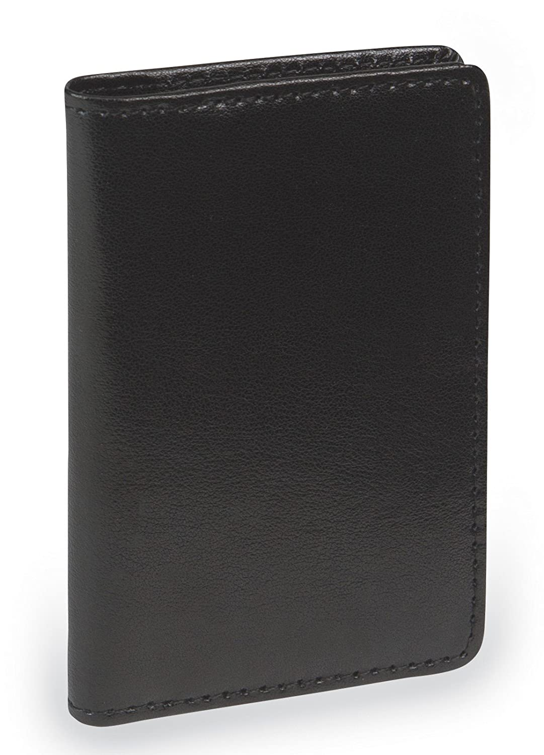 Samsill 81220 Regal Leather Business Card Wallet, Holds 25 Cards of 4.0 L by 2.0 W-Inch, Black Samsill Corporation