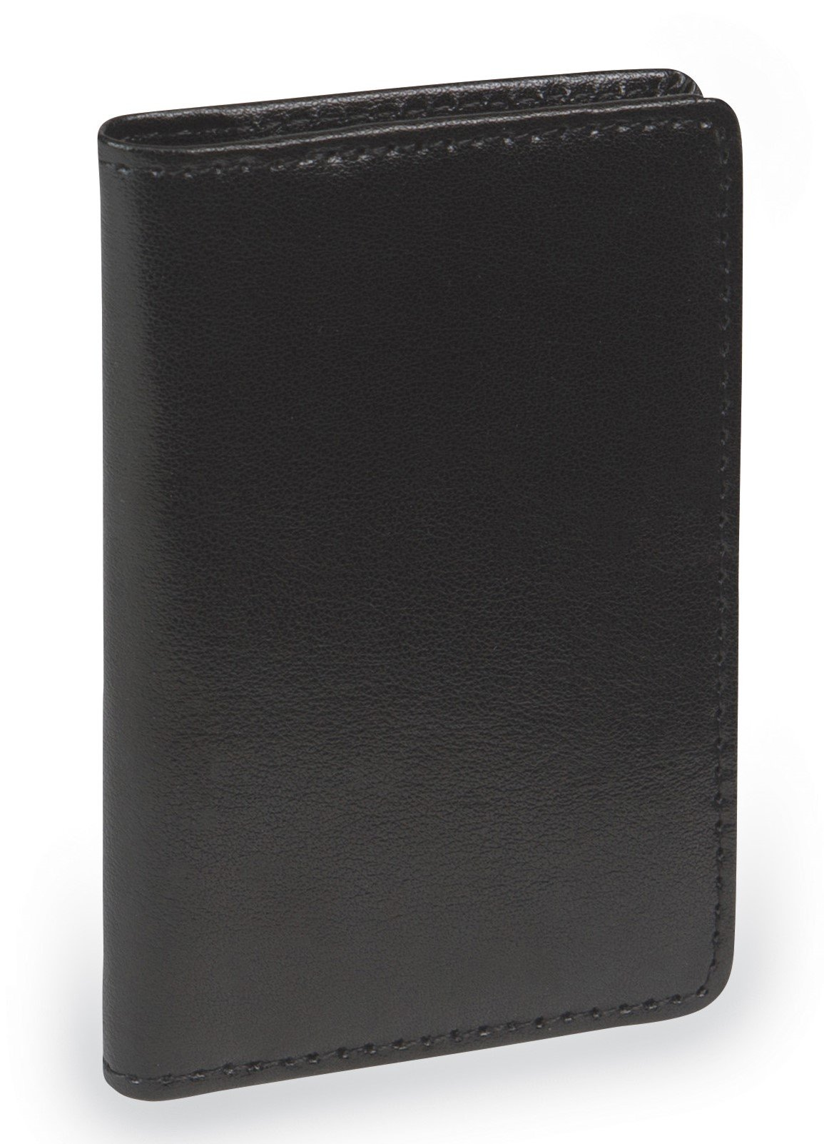 Samsill 81220 Regal Leather Business Card Holder, Case Holds 25 Business, Black