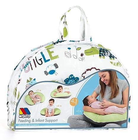 MOLTO Feeding Infant Support - Cojín de lactancia, color azul