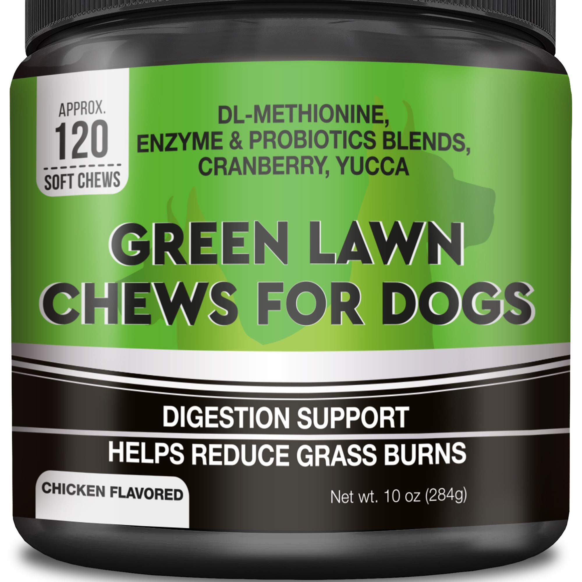 GOODGROWLIES Grass Saver for Dogs - Dog Pee Lawn Repair Treats - Grass Burn Spots Caused by Dog Urine - Grass Saver Rocks with Probiotics + Digestive Enzymes, Cranberry - Made in USA - 120 Soft Chews by GOODGROWLIES