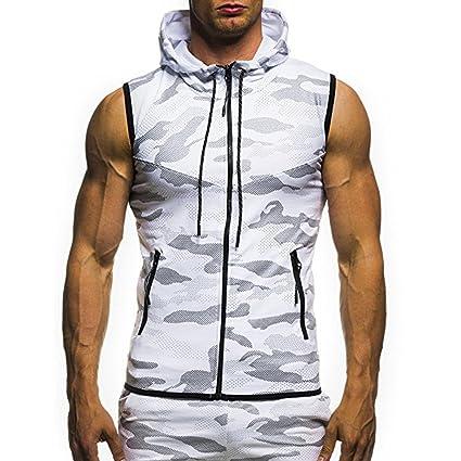 7fd10782a2ea Amazon.com  Men Top Vest Blouse