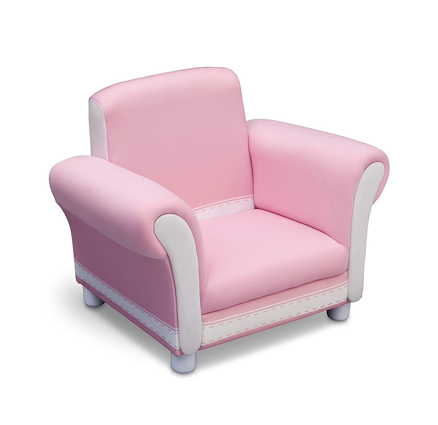 Terrific Delta Children Childrens Upholstered Chair Pink And White Pabps2019 Chair Design Images Pabps2019Com
