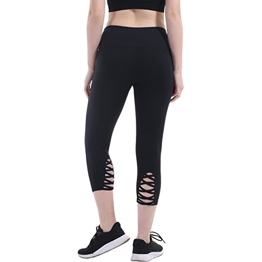 d76ae7f54630c Don't Miss This Deal on Heat Move Women Capri Yoga Pants with Pocket 4 Way  Stretch Moisture Wicking Leggings: Sports & Outdoors
