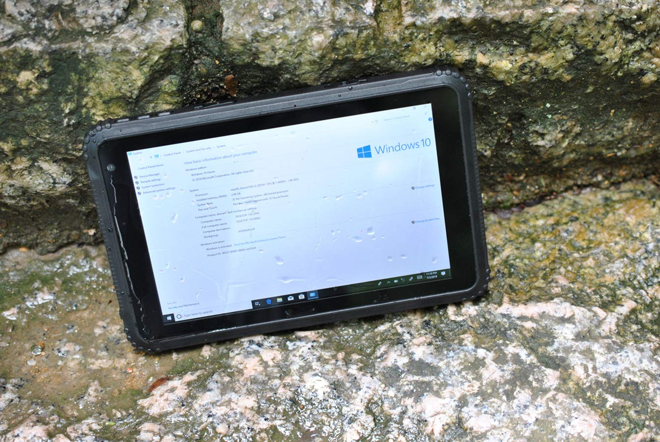 Vanquisher 8-Inch Ultra Rugged Tablet Windows 10 Pro, with GPS GNSS /  7800mAH Battery/Gorilla Glass Panel / IP67 Rated for Enterprise Mobile  Field