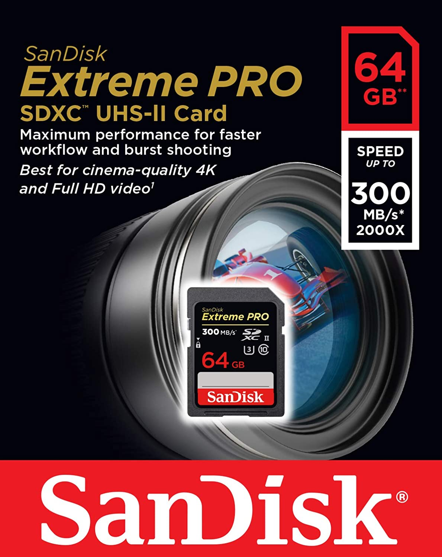 SanDisk Extreme Pro, Tarjeta de Memoria Extreme, 1, Black