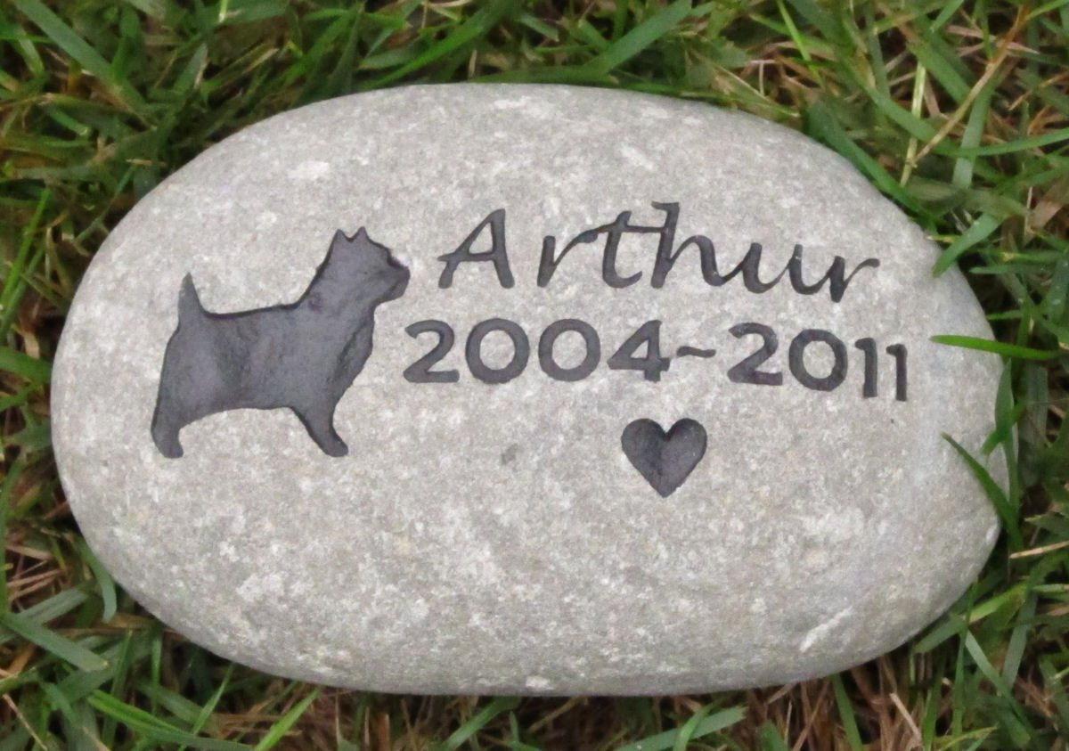 Cairn Terrier, Pet Memorial Stone, Dog Memorial Gift 8-9 Inch All Dog Breeds Available