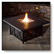 Alfresco Home Ramblas Cast Aluminum Outdoor Gas Fire Pit Table