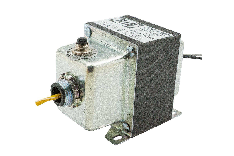20 in wires Transformer 100VA,120-24V,2 hub,ClassII UL Listed US//C,CBkr