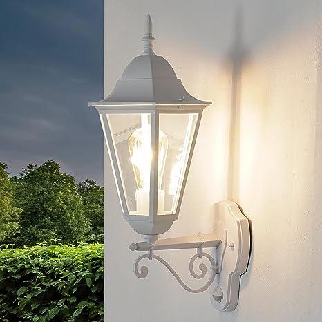 klassische Außenwandleuchte Hongkong Klarglas Laterne Lampe Haus Tür Beleuchtung