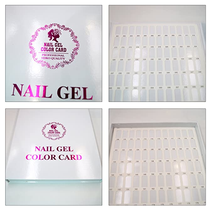 LA HAUTE Nail Gel Color Display Nail Tips Nail Art Salon Card Book ...