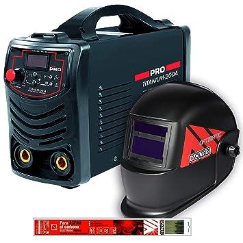 Pack de soldador Invérter Titanium 200A Cevik con pantalla electrónica y electrodos Solter: Amazon.es: Bricolaje y herramientas