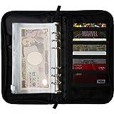 (satex) スキミング防止機能付 仕分けができるパスポートケース パスポートホルダー 収納ケース マルチケース 貴重品ケース クリアポケット リフィル