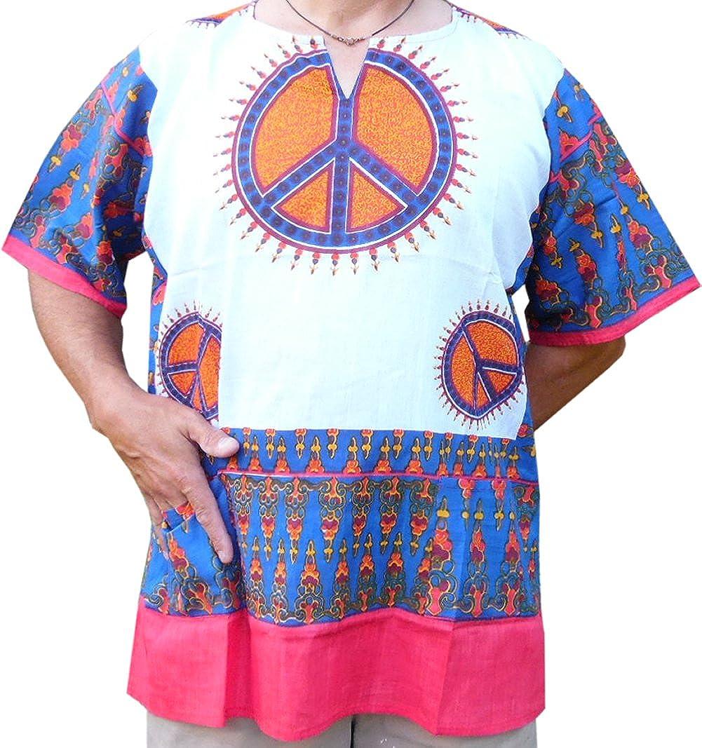 Dashiki Mens Peace Sign Dashiki African Shirt