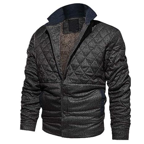 ♚ Bata de Abrigo para Hombre, Abrigo de algodón con Cuello Abotonado Casual de Manga Larga de otoño Invierno para Hombre Absolute: Amazon.es: Ropa y ...