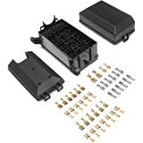 DEDC 12-Slot Relay Box 12V Holder with 41pcs Metallic Wiring Terminals, for Automotive and Marine Use, Holding Bosch Style 40/30A 5 Pin Relays 30A 4 Pin Relay