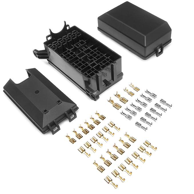 DEDC Auto Sicherungskasten, 12 Stecker Relais Box Relaishalter für 6 ...