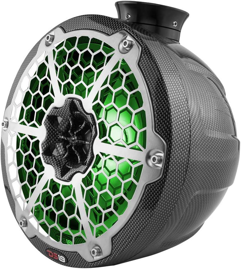 Pair for All Elements Jet SKI Marine DS18 CF-JS6 Carbon Fiber Flat Mount Speaker POD Universal Enclosure 6.5 NO Speaker Jeep /& UTV//ATV