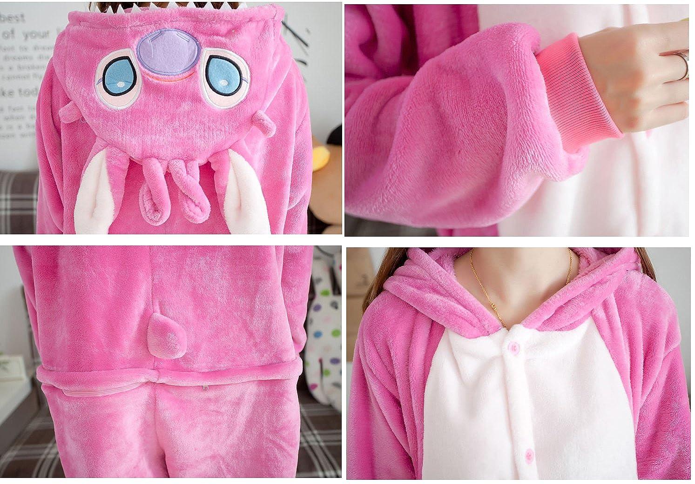 d8ce4311b Pijamas Ropa Vestuario Navidad Para Unisex Y Adultos De Stitch Animales  Rosa Cálido Dormir Halloween Cosplay ...
