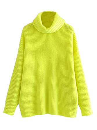 1751174cfc6d Milumia Women s Turtleneck Chunky Cable Knit Basic Sweater at Amazon ...