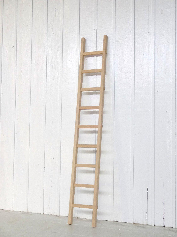 強度耐久性抜群!小さな木製梯子(はしご)11段 白木(無塗装)  ラダー踏み台階段 (H1,790×W303mm) 猫ちゃんの昇降用にどうぞ! B01N4SLK7L H1,790×W303mm H1,790×W303mm