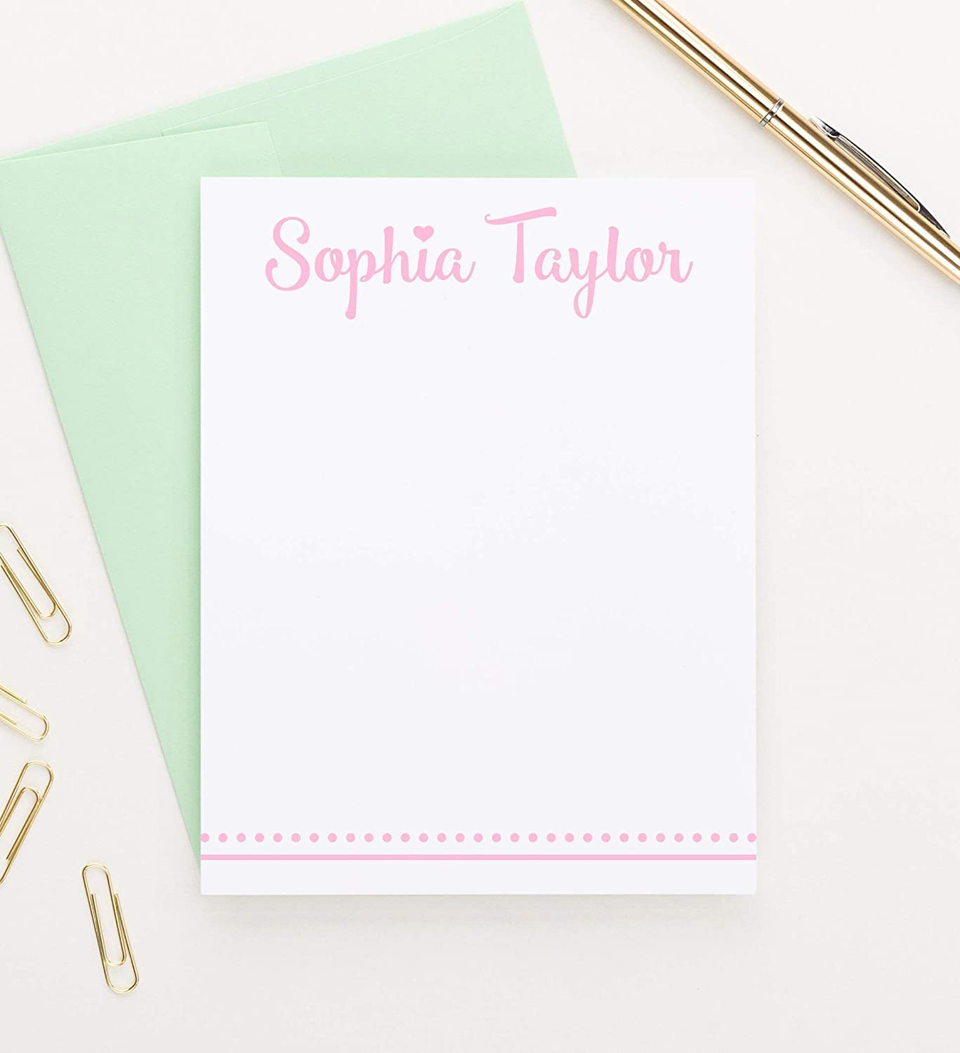 Kids Personalized Rainbow Note Cards Childrens Penpal Note Cards Flat Cards Stationery Rainbow Cards Custom Rainbow Cards