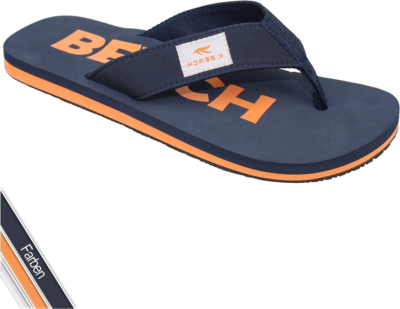 Flip On Zehentrenner Herren /& Damen farbig Orange Beach Badeschlappen mit fester Sohle UK 5 Blau Badelatschen Strandschuhe mit weichem Fu/ßbett Gr/ö/ße 38 Sandalen f/ür Strand Urlaub /& Sauna