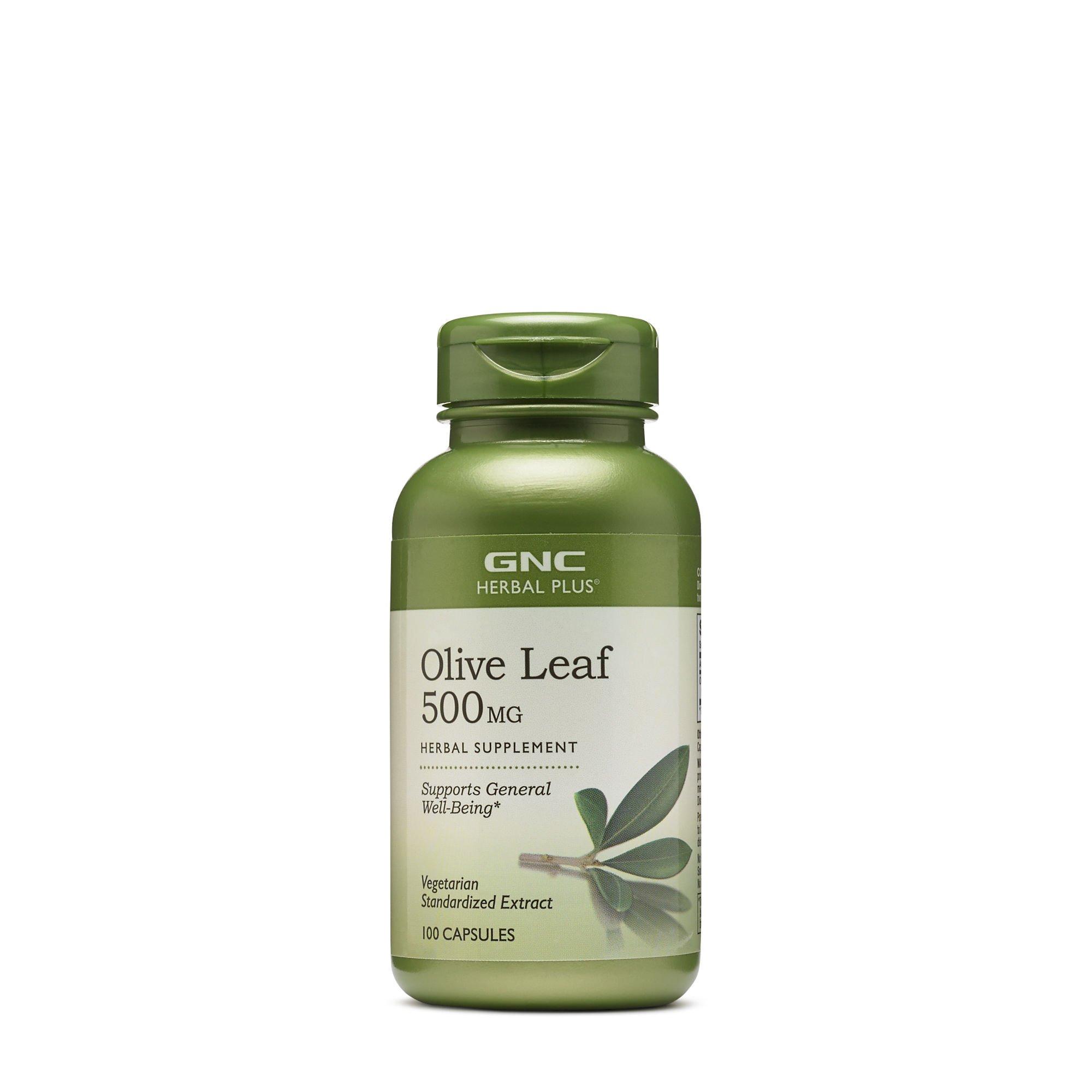 GNC Herbal Plus Olive Leaf 500 mg