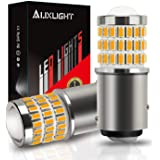 AUXLIGHT 2057 1157 2357 7528 2057A 1157A 2357A LED Bulbs Amber Yellow, Ultra Bright 57-SMD LED Replacement for Blinker…