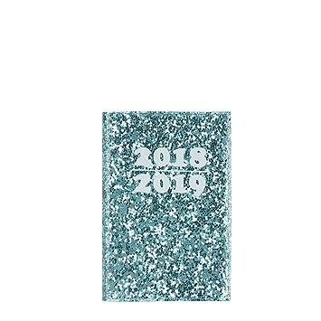 Agenda 2018/2019 con purpurina verde A7 2 días para ver ...