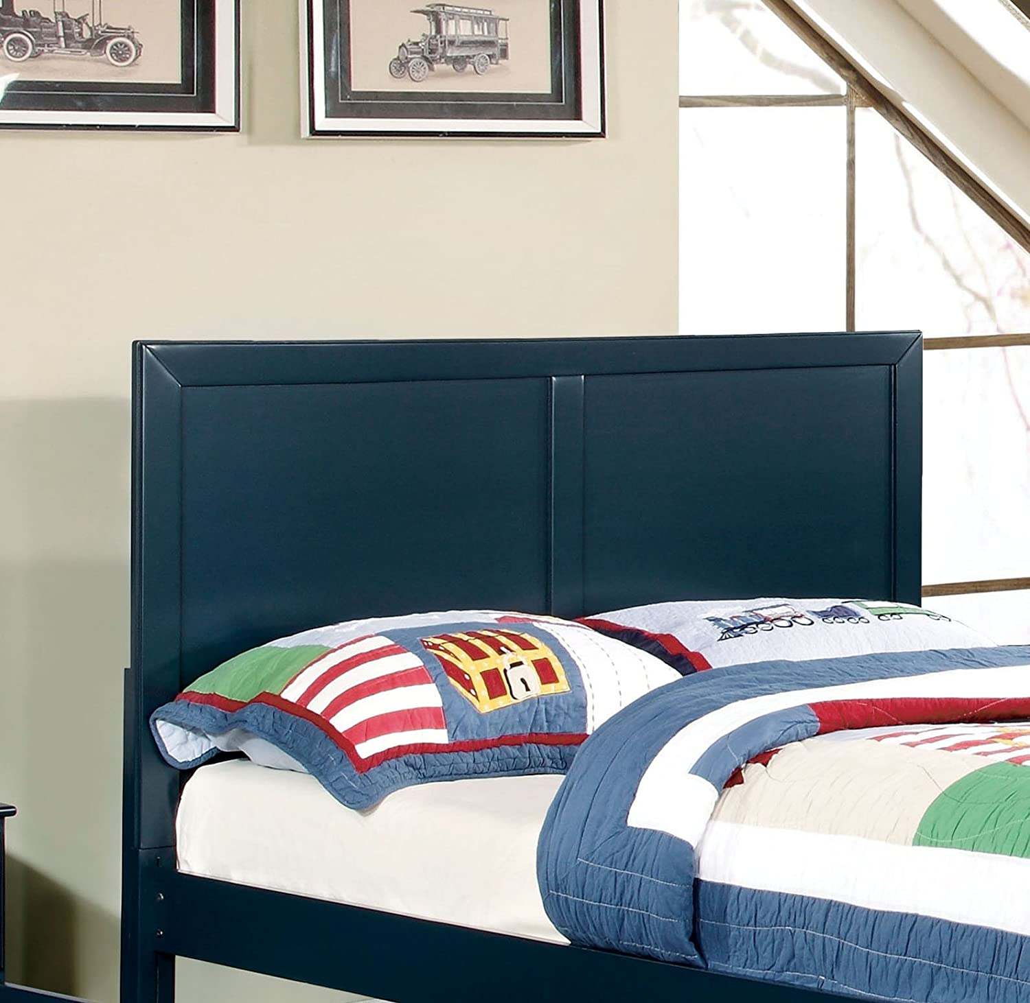 Furniture of America Kolora Youth Headboard, Queen, Blue