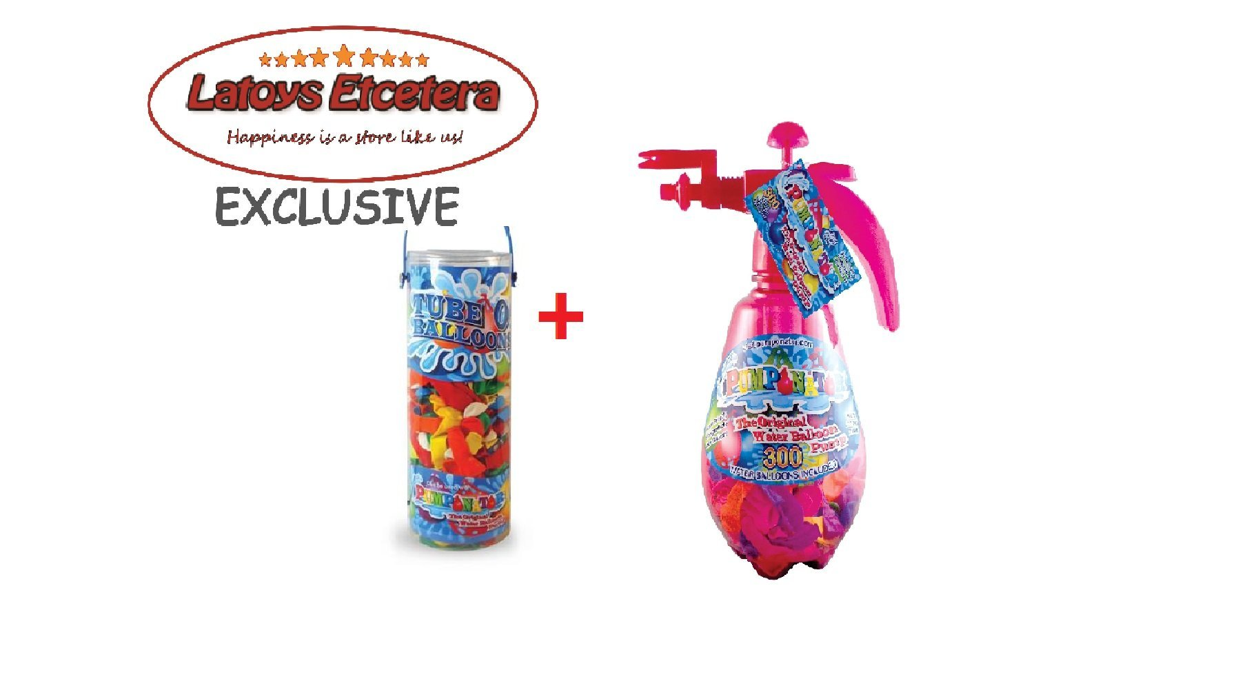 Pumponator Water Balloon Pump (Pink) and Tube o' Balloons Gift Bundle Set by Pumponator