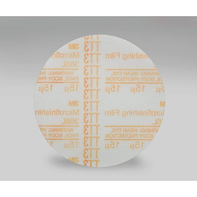 PSA Pack of 500 3M Microfinishing PSA Film Type D Disc 366L TM Aluminum Oxide Attachment 5 Diameter Pressure-Sensitive Adhesive Red 80 Micron Grit