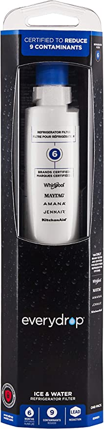 EveryDrop by Whirlpool Refrigerator Water Filter 4 Pack of 1