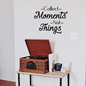 """Vinyl Wall Art Decal - Collect Moments Not Things - 19"""" x 23"""" - Positive Office Living Room Bedroom Workplace Decor - Inspirational Wall Home Apartment Indoor Outdoor Decor Sticker"""