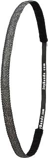 Ivybands® Bandeau Cheveux–Le Ruban antidérapant Cheveux | Special Jeans Noir SuperThin | 1cm Large Ruban Paillettes Cheveux Noir, Noir, Taille Unique, ivy783