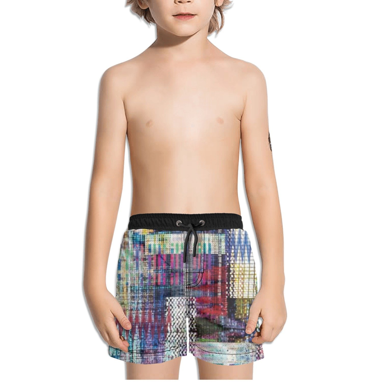 Ouxioaz Boys Swim Trunk Digital Print Abstract Beach Board Shorts