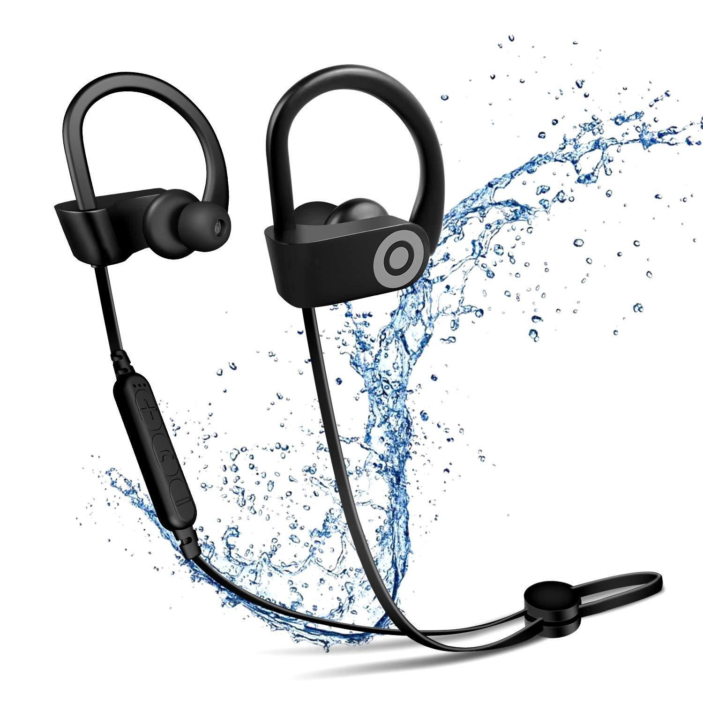 Bluetoothヘッドセット 超軽量 イヤホン ヘッドホン ミュート HDサウンド ノイズキャンセリング 強力なバッテリー使用 マイク 運転/オフィス/スポーツ用   B07S1D8WQK