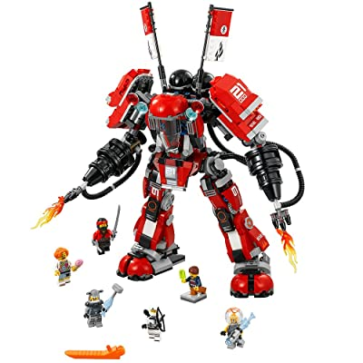 LEGO NINJAGO Movie Fire Mech 70615 Building Kit (944 Pieces): Toys & Games