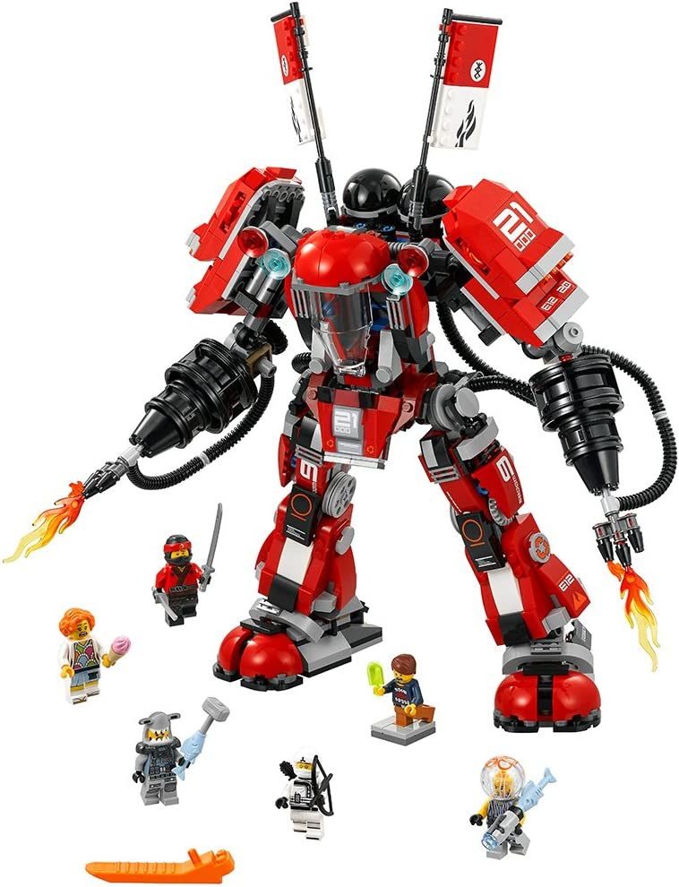 Amazon Com Lego Ninjago Movie Fire Mech 70615 Building Kit 944 Pieces Toys Games