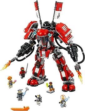 Amazon.com: LEGO Ninjago Movie Fire Mech 70615 Kit de ...